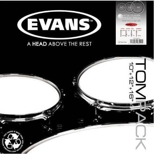 EVANS TOM PACK EC2 SST CLEAR ROCK