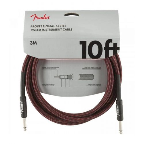 FENDER PROFESIONAL CABLE 3M RED TWEED