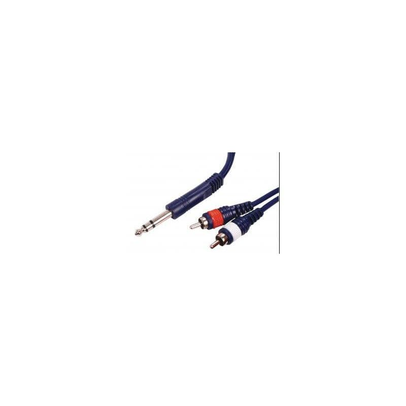 IMPCABLE JACK STEREO-2 RCA DRIS-3 (3m)