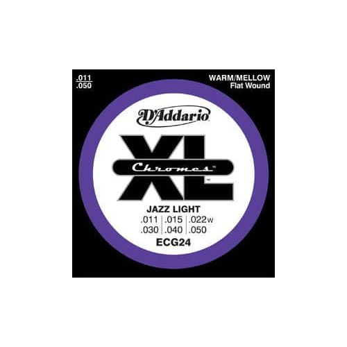 D'ADDARIO ECG-24 CHROMES JAZZ LIGHT (11-50)