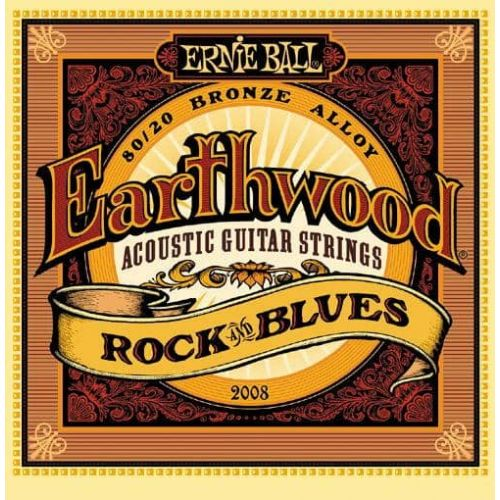 ERNIE BALL 2008 EARTHWOOD 80/20 ROCK & BLUES (10-52)