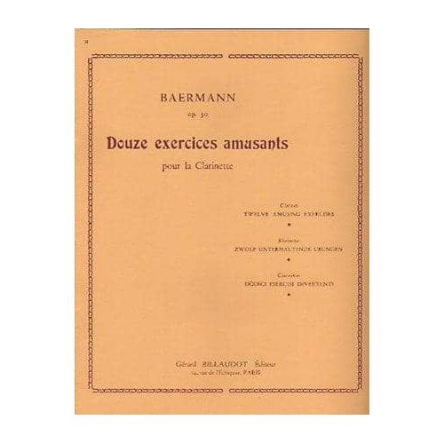 BAERMANN. 12 Exercices amusants op.30