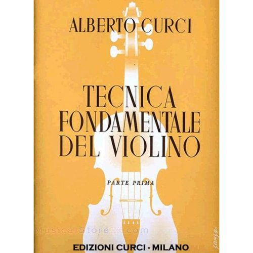 CURCI,A. Tecnica fundamental del violin Vol 1