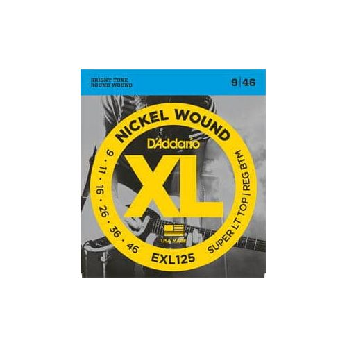 D'ADDARIO EXL-125 LIGHT TOP/REGULAR BOTTOM (9-46)